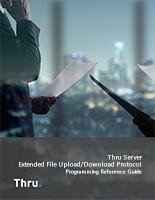 Thru Server Extended File Upload/Download Protocol Programming Reference Guide